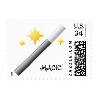 Fantastic Stars Magician's Wand Conjuring Stamp