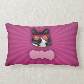 Fantastic Sunglasses Cat Lumbar Pillow