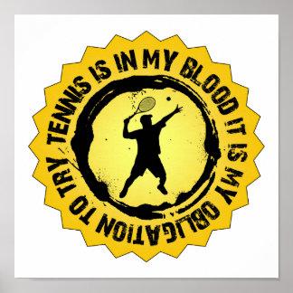 Fantastic Tennis Seal (Male) Poster