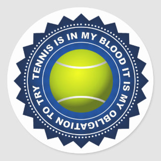 Fantastic Tennis Shield 2 Classic Round Sticker