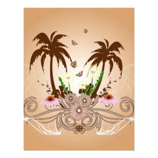 Fantastic tropical design letterhead