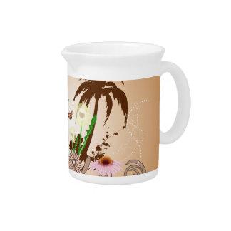 Fantastic tropical design beverage pitchers