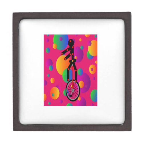 Fantastic Unicycle in the circus With Background Premium Trinket Box