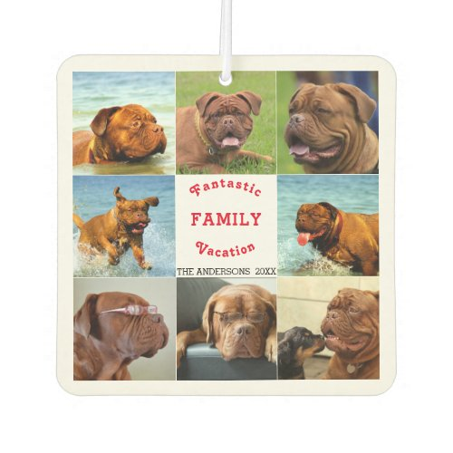 Fantastic Vacation Editable Photo Template Air Freshener