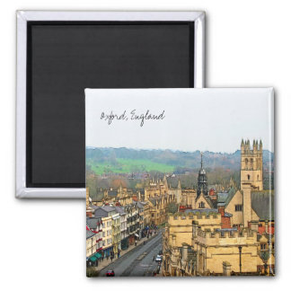 Fantastic View, Oxford, England, High Street #1 2 Inch Square Magnet