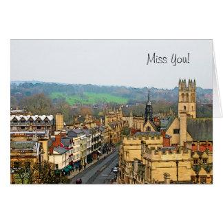 Fantastic View, Oxford, England, High Street #1 Card