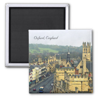 Fantastic View, Oxford, England, High Street #3 2 Inch Square Magnet