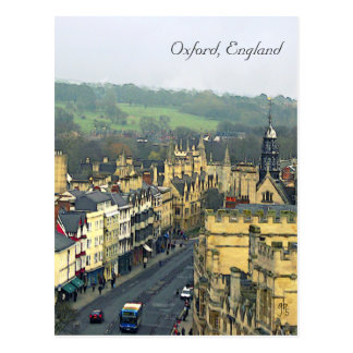 Fantastic View, Oxford, England, High Street #4 Postcard
