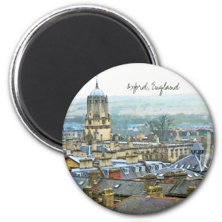 Fantastic View, Oxford, England, Roof Top #1 2 Inch Round Magnet
