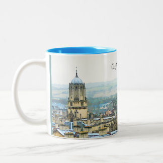 Fantastic View, Oxford, England, Roof Top #1 Two-Tone Coffee Mug
