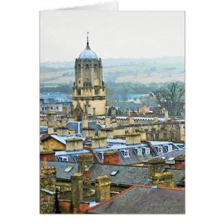 Fantastic View, Oxford, England, Roof Top #2 Card
