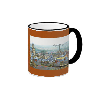 Fantastic View, Oxford, England, Roof Top #4 Ringer Coffee Mug