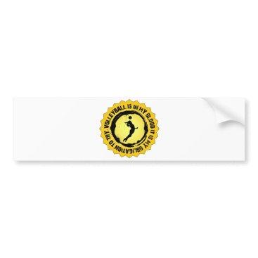 Beach Themed Fantastic Volleyball Seal (Female) Bumper Sticker
