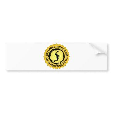 Beach Themed Fantastic Volleyball Seal (Male) Bumper Sticker