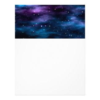 Fantastic Voyage Space Nebula Letterhead