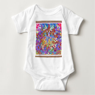 Fantastic Waves Colorful Abstract Art Baby Bodysuit