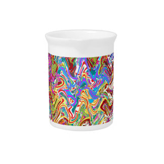 Fantastic Waves Colorful Abstract Art Pitchers