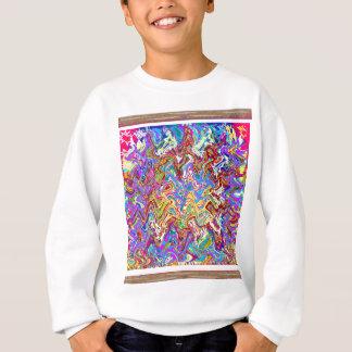 Fantastic Waves Colorful Abstract Art Sweatshirt