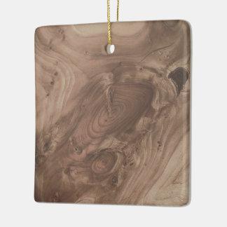 fantastic wood grain soft ceramic ornament