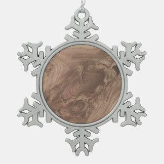 fantastic wood grain soft snowflake pewter christmas ornament