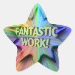 Fantastic Work Star Sticker