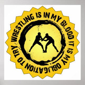 Fantastic Wrestling Seal Poster