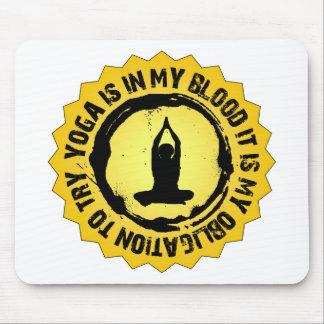 Fantastic Yoga Seal Mouse Pad