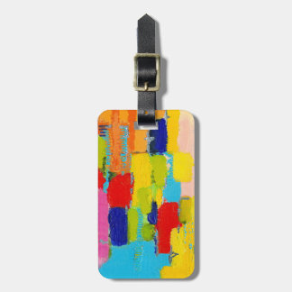 Fantastical Abstract Painting by Kris Taylor Luggage Tags