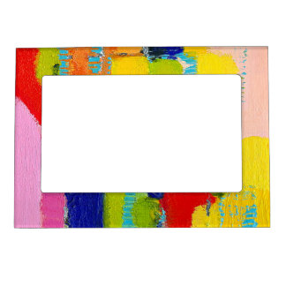 Fantastical Abstract Painting by Kris Taylor Magnetic Picture Frame