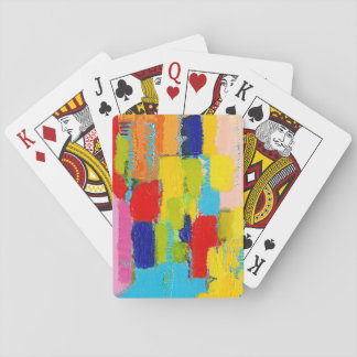 Fantastical Abstract Painting by Kris Taylor Playing Cards