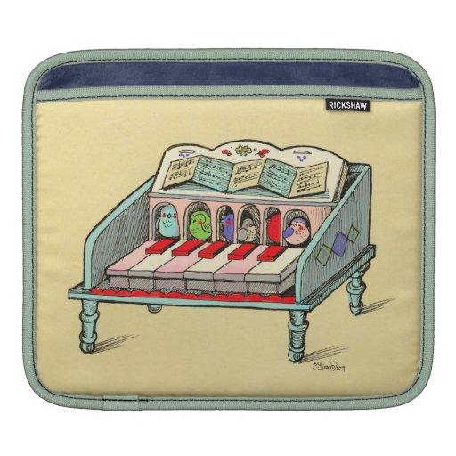 Fantastical Jukebox and Bird Harpsichord Ipad Case iPad Sleeves