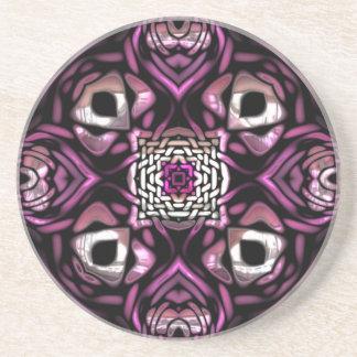 Fantastical Purple Pattern Sandstone Coaster