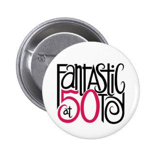 Fantástico en el botón 50 pin redondo de 2 pulgadas