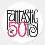 Fantástico en el pegatina 50