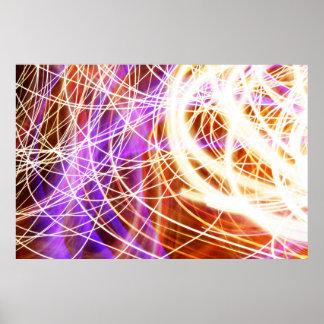 Fantástico ligero - poster ligero de la pintura