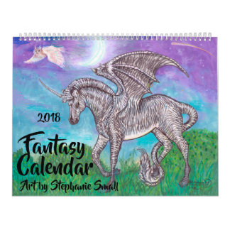 Fantasy 2018 Unicorn, Dragon and Mermaid Calendar
