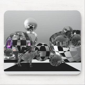 Fantasy 3-d mousepad Zebra in Sci-fi world