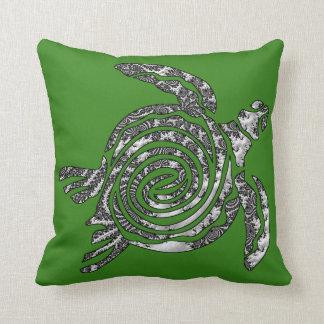 Fantasy 3 D Turle Throw Pillow