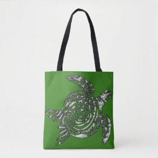 Fantasy 3 D Turtle Tote Bag