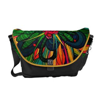 Fantasy Abstract Floral Rickshaw Messenger Bag