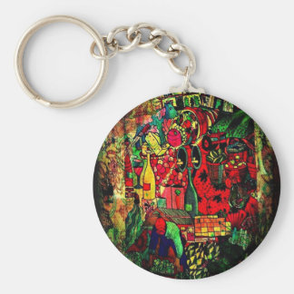 Fantasy Abstract Mural Design gifts Key Chain