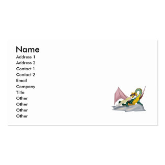 Fantasy Angry Fire Breather Dragon Business Card