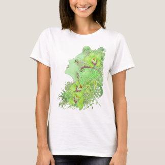 Fantasy Art Baby Doll T - The Green Faery T-Shirt