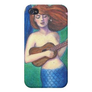 Fantasy Art iphone 4 case, Ukulele Music Mermaid iPhone 4 Covers