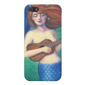 Fantasy Art iphone 4 case Ukulele Music Mermaid