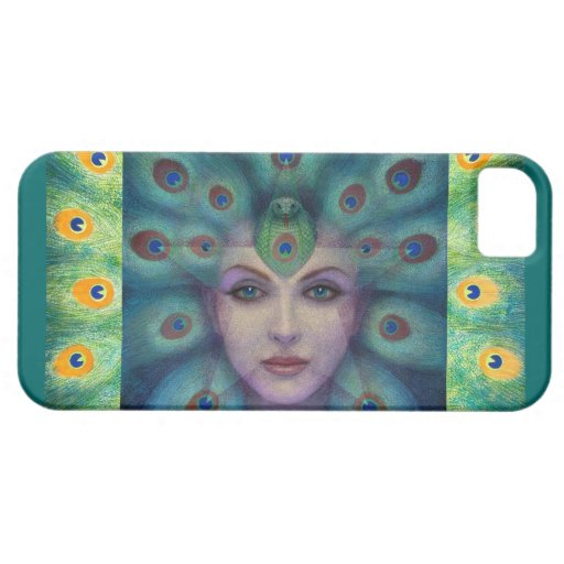 Fantasy Art iPhone 5 Case Peacock Lady Star Magic