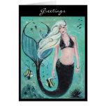 Fantasy art mermaid Greeting card By Renee