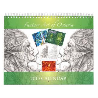 Fantasy Art of Octavia 2013 Calendar