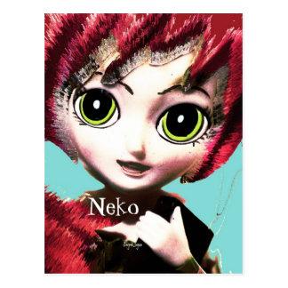 Fantasy Art  Postcard, Neko Girl 1 Post Card