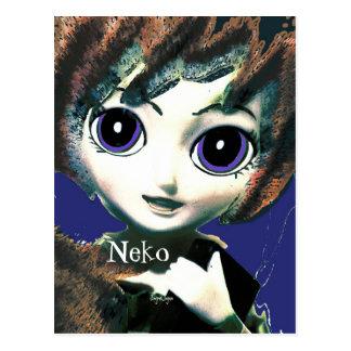 Fantasy Art  Postcard, Neko Girl Tabi Post Card